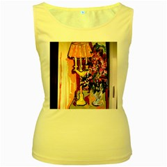 Still Life With Lamps And Flowers Women s Yellow Tank Top