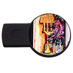 Still Life With Lamps And Flowers Usb Flash Drive Round (2 Gb)