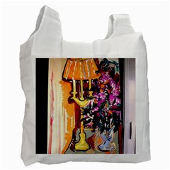 Still Life With Lamps And Flowers Recycle Bag (one Side) by bestdesignintheworld