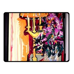 Still Life With Lamps And Flowers Fleece Blanket (small)