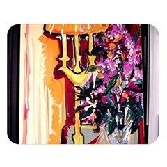 Still Life With Lamps And Flowers Double Sided Flano Blanket (large)