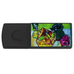 Still Life With A Pigy Bank Rectangular Usb Flash Drive