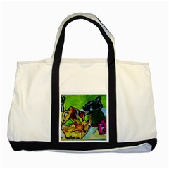 Still Life With A Pigy Bank Two Tone Tote Bag