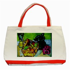 Still Life With A Pigy Bank Classic Tote Bag (red)
