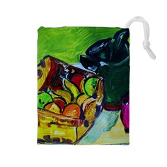 Still Life With A Pigy Bank Drawstring Pouches (large)