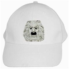 Theater Mask White Cap