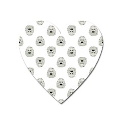 Angry Theater Mask Pattern Heart Magnet