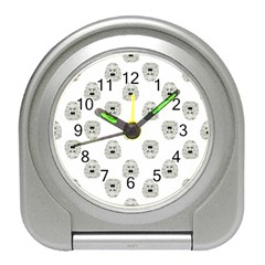 Angry Theater Mask Pattern Travel Alarm Clocks
