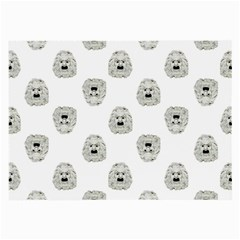 Angry Theater Mask Pattern Large Glasses Cloth