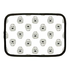 Angry Theater Mask Pattern Netbook Case (medium)