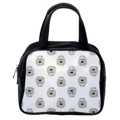 Angry Theater Mask Pattern Classic Handbags (one Side) by dflcprints