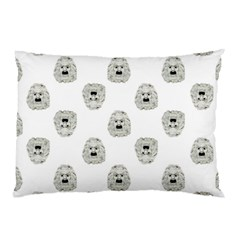 Angry Theater Mask Pattern Pillow Case by dflcprints