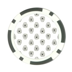 Angry Theater Mask Pattern Poker Chip Card Guard (10 Pack)