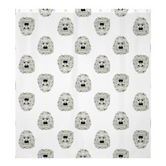 Angry Theater Mask Pattern Shower Curtain 66  X 72  (large)  by dflcprints