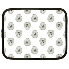 Angry Theater Mask Pattern Netbook Case (xxl)
