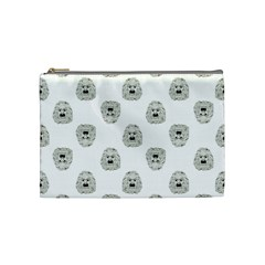 Angry Theater Mask Pattern Cosmetic Bag (medium)