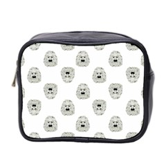 Angry Theater Mask Pattern Mini Toiletries Bag 2 Side