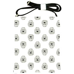 Angry Theater Mask Pattern Shoulder Sling Bags