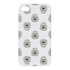 Angry Theater Mask Pattern Apple Iphone 4/4s Premium Hardshell Case