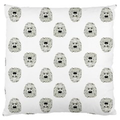 Angry Theater Mask Pattern Large Cushion Case (two Sides)