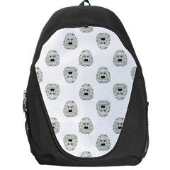 Angry Theater Mask Pattern Backpack Bag