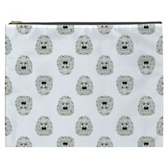 Angry Theater Mask Pattern Cosmetic Bag (xxxl)  by dflcprints