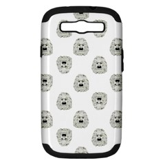 Angry Theater Mask Pattern Samsung Galaxy S Iii Hardshell Case (pc+silicone)