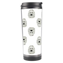Angry Theater Mask Pattern Travel Tumbler