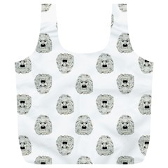 Angry Theater Mask Pattern Full Print Recycle Bags (l)