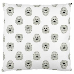 Angry Theater Mask Pattern Standard Flano Cushion Case (two Sides)