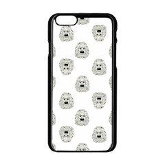 Angry Theater Mask Pattern Apple Iphone 6/6s Black Enamel Case