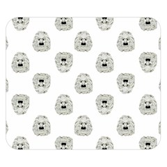 Angry Theater Mask Pattern Double Sided Flano Blanket (small)