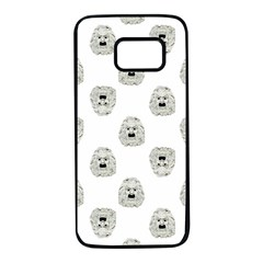Angry Theater Mask Pattern Samsung Galaxy S7 Black Seamless Case