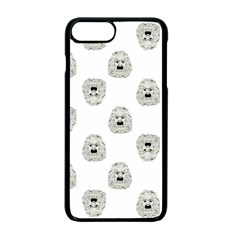 Angry Theater Mask Pattern Apple Iphone 7 Plus Seamless Case (black)