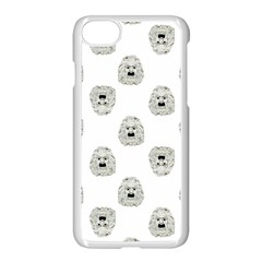 Angry Theater Mask Pattern Apple Iphone 7 Seamless Case (white)