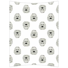 Angry Theater Mask Pattern Back Support Cushion