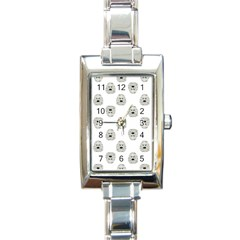 Angry Theater Mask Pattern Rectangle Italian Charm Watch