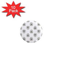 Angry Theater Mask Pattern 1  Mini Magnet (10 Pack)