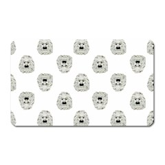 Angry Theater Mask Pattern Magnet (rectangular)