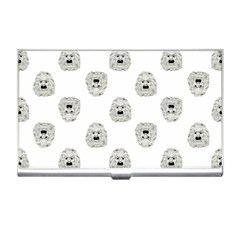 Angry Theater Mask Pattern Business Card Holders by dflcprints