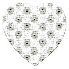 Angry Theater Mask Pattern Jigsaw Puzzle (heart)