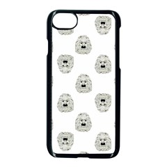 Angry Theater Mask Pattern Apple Iphone 8 Seamless Case (black)