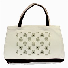 Angry Theater Mask Pattern Basic Tote Bag