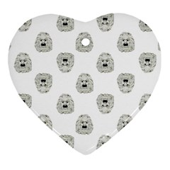 Angry Theater Mask Pattern Heart Ornament (two Sides)