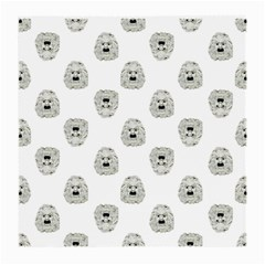 Angry Theater Mask Pattern Medium Glasses Cloth