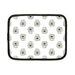 Angry Theater Mask Pattern Netbook Case (small)