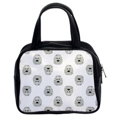 Angry Theater Mask Pattern Classic Handbags (2 Sides)