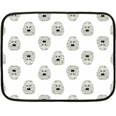 Angry Theater Mask Pattern Fleece Blanket (mini)