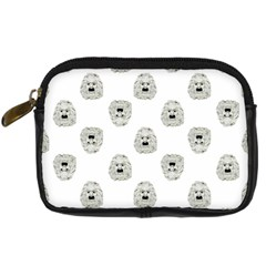 Angry Theater Mask Pattern Digital Camera Cases
