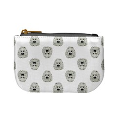 Angry Theater Mask Pattern Mini Coin Purses